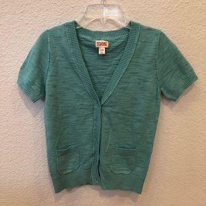 Blue Short Sleeve Cardigan